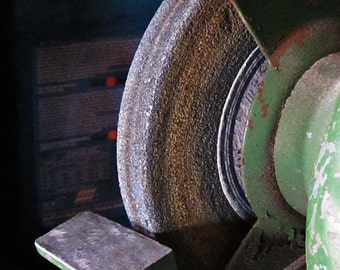 Rustic, Photograph, Card, Magnet, Garage Art, Industrial Chic, Mancave, grinder, still life photos, For Him, Free Shipping