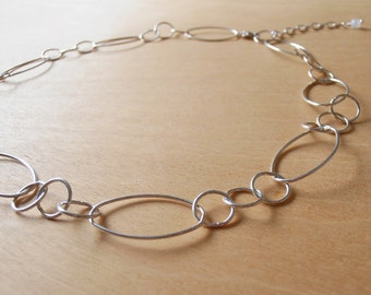 Sterling Silver Necklace With Large Links
