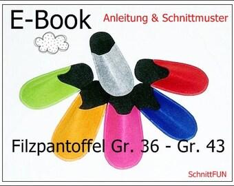 E-Book - Filzpantoffel Erwachsene
