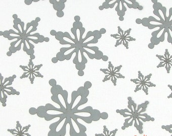 """Laser-Cut Holiday Snowflake Cutouts - """"A Snow Flower"""" - Heavyweight Colored Paper - Great for Christmas Confetti"""