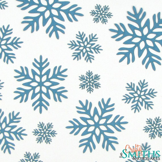 """Laser-Cut Holiday Snowflake Cutouts - """"Christmas Morning"""" - Heavyweight Colored Paper - Great for Christmas Confetti"""