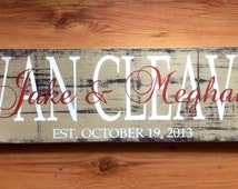 Personalized family sign. Family name sign. Family established sign