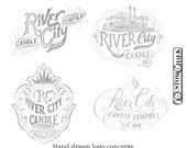 Hand drawn & Lettered Custom Logo Design - 100% original designs