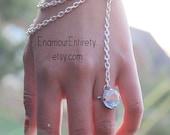 Silver Blue Gem Slave Bracelet