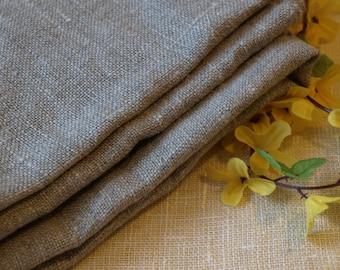 "Linen Tablecloth  54""x95"" Natural Grey Burlap Washed Rustic"
