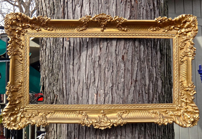 Ornate Frame Gold Frame Picture Frame Wedding Photo Prop