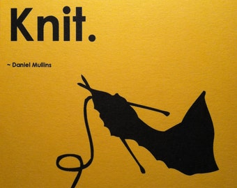5x7 Print, Frameable Knit Print