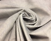 Gray wide wale cotton/poly corduroy fabric by the yard