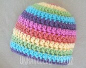 Rainbow Baby Newborn Girl Hat, Rainbow Photo Prop Hat