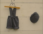 Charcoal grey 1-3yrs overall,grey overalls, boys overalls, adjustable overalls short or knickers length