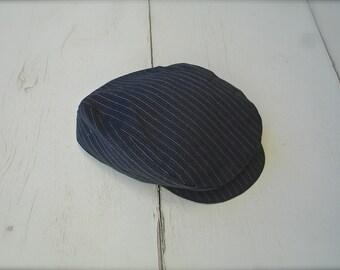 New Pinstripe Grey oval golfers beret, newsboy hat for little boys