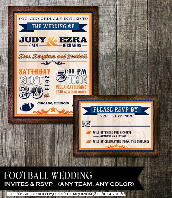 Soccer Themed Wedding Ideas: Sports Themed Wedding Football Wedding In Any Team Colors