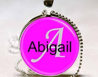 Abigail Name Monogram Handcrafted  Necklace Pendant (NPD0006)