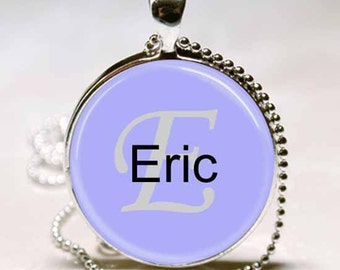 Eric Name Pendant Name Monogram Handcrafted  Necklace Pendant (NPD1442)