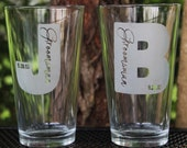 Groomsmen Gifts, 6 Custom Engraved Pint Glasses, Groomsman Gifts, Wedding Party Gifts, Etched Beer Glass, Pub Glass, Bachelor Party Gifts