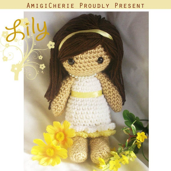 Crochet Doll - Lily - Original Design - Spring Time, Mother's Day Doll - Custom Colors Available