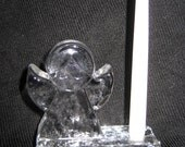 Small Crystal German Angel Candle Holder