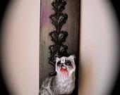 Wall Mounted Metal Cat Art