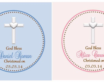 Christening Favor Tags - Baptism Favor Tags ( Set of 12)  / Christening Favors - Baptism Favors - Christening Thank you tags