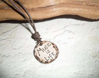 Music if Life necklace