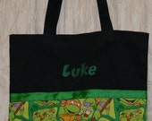 Boys Tote Bag, Canvas Tote Bag, 'Ninja Turtle' Bag - FREE PERSONALIZATION