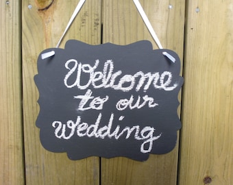 2 Chalkboards Vintage Scroll Wedding Wooden Chalk Boards Wedding Signs Photo Prop Menu Table Centerpiece