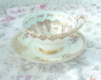 Vintage Porcelain Bone China Cup Saucer