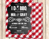 I Do BBQ Bridal Shower Invitation-Rehearsal Dinner, Engagement Party, Bridal Shower, Stock the Bar