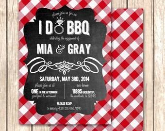 I Do BBQ Bridal Shower Invitation-Rehearsal Dinner, Engagement Party, Bridal Shower, Baby Q Invitaiton, DIY Invitation, Printable Invitation