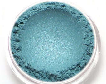 "Blue Eyeshadow Shimmer - ""Atlantis"" - Frosty Aqua Blue - Vegan Mineral Eyeshadow Net Wt 2g Mineral Makeup Eye Color Pigment"
