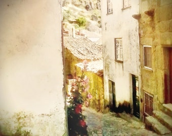 MONSANTO ALLEY.  Ancient Street. Dreamy Street Scene. Portugal. 8 x 8