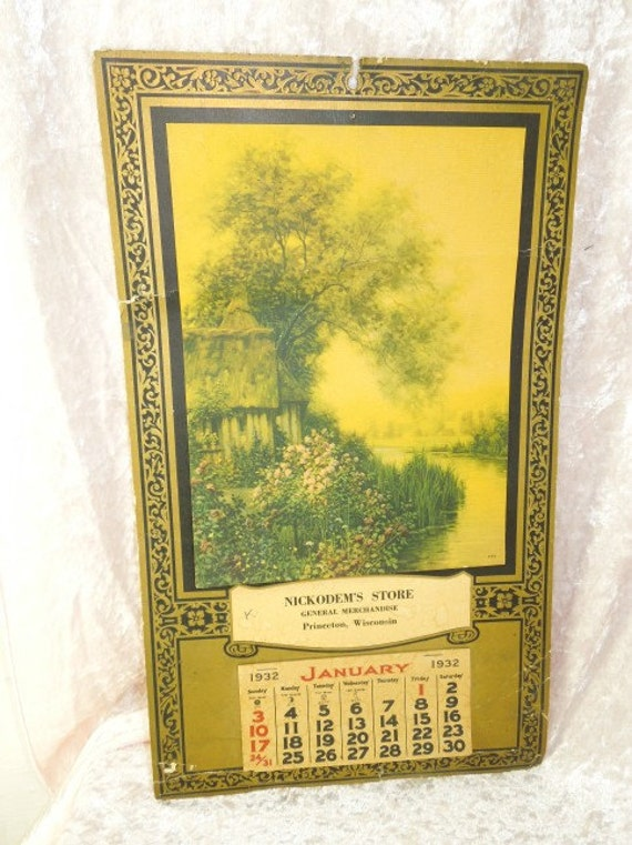 Calendar January 1932 Related Keywords & Suggestions - Calendar