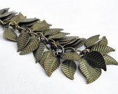Brass leaves - destash - 200 leaves - brass leaf charm - brass findings - metal leaves - 14mm leaf - bulk supplies - craft supplies