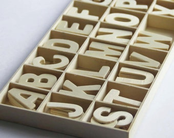 Set of 130 Wood Letters A-Z