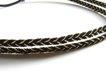 Black and Gold Double Strand Headband