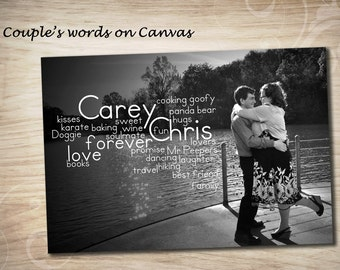 16x24 Canvas Art, Personalized Photo Canvas Art,  Words on Canvas