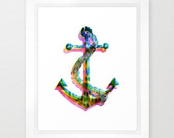 CMYK ANCHOR  Art Print  by SchatziBrown