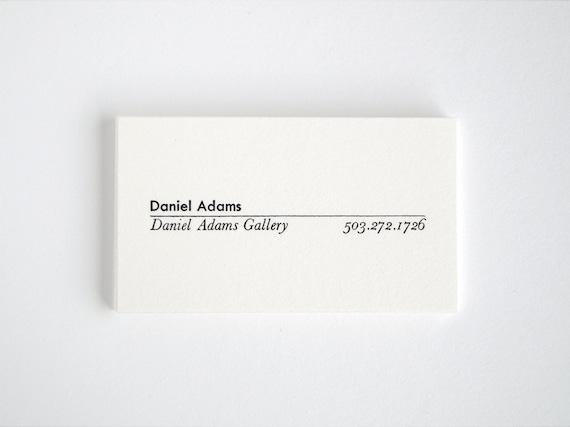 MONOGRAPH Modern Calling Cards - Letterpress Mid-Century Business Cards - Premiere
