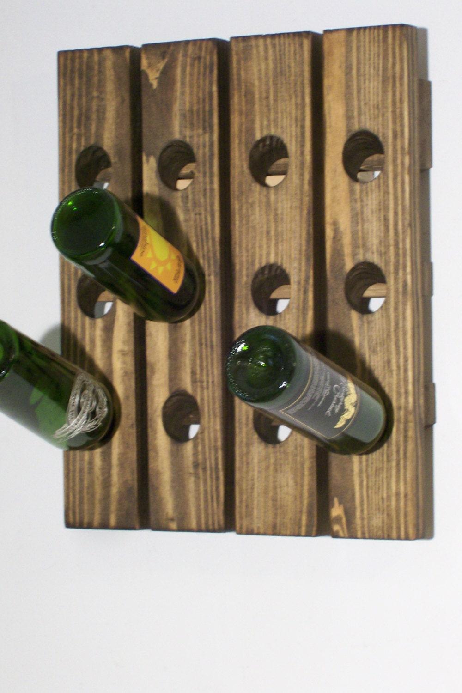 Wine Riddling Rack Wood Wall Mounted Wine Display
