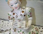 Girl Figurine Porcelain Girl China Girl Figurine With Rhinestones