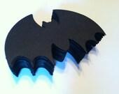 25 paper bats,  bat die cuts, bat silhouettes, wall bats, paper embellishments 2.25 inches