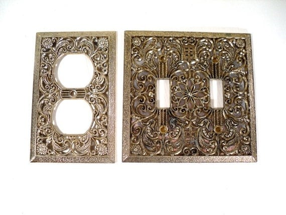 Decorative switch plate retro electric outlet cover - Decorative wall plates electrical ...