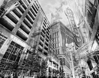 Portland Oregon Photo Collage Gallery Canvas Wrap--Fine Art 24x36