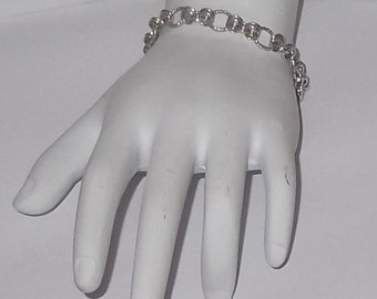 Sterling Silver Charm, Chainmaille Bracelet/Bracelet Only - SSChB2