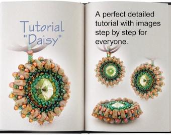 Jewelry tutorial .... Daisy... Beautiful  pendant with 2 hole beads.