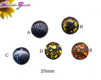 1 pcs cabochon polymer clay handmade 25mm