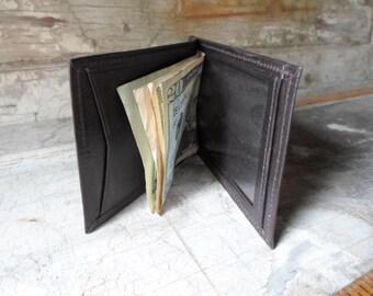 Mens Wallet, Leather Wallet, Bi Fold, Dead Stock, Vintage, Money Clip, Dark Brown, Credit Card Holder, Retro, Men's Wallet, All Vintage Man