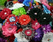 "Grab Bag of Flower Clips!  4"" - 4.5"" - Blowout Special! Daisies, Peonies, Dahlias, Bling Flowers & More"