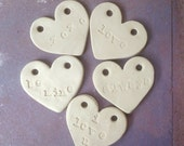 Ceramic Heart Pendant for Necklaces with Valentine's Day Quotes
