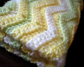 PATTERN: Chunky Chevron Baby Afghan, shower gift, carseat size, rippled stripes, Easy Crochet P D F, InStAnT DowNLoaD PERMISSION to SELL